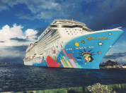 The beauty herself, the Norwegian Breakaway
