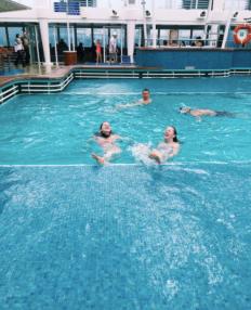 The pool was salt water & so warm!